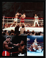 """MUHAMMAD ALI VS GEORGE FOREMAN  """"THE RUMBLE IN THE JUNGLE"""" 10/30/74 8X10 COLLAGE"""