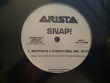 """Snap-Rhythm is a dancer/the power 12"""" Promo Remixes"""