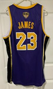 NWT Lebron James #23 Los Angeles Lakers Purple Basketball Jersey Men's XL Sz 52