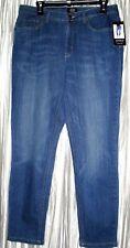 """New *JONES OF NY*Lexington Ankle,Cotton/Spandex,""""Secret Slimming"""" Blue Jeans,18R"""