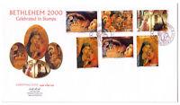 Palestinian Authority/Palestine: Bethlehem Christmas 2000 Large Env FDC #134-139