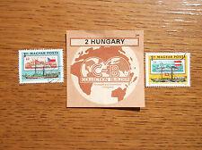 MAGYAR POSTA HUNGARY STAMPS European Danube Commission 1981 PADDLESTEAMER ARPAD