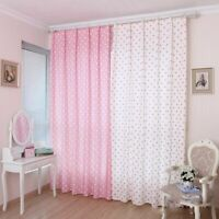 Curtains Cloth Tulle Window Screens Treatments Dot Patterned Cute Home Decor New