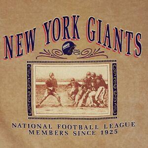 NY Giants Crewneck XL Mens Beige Nutmeg Mills Usa Vintage Size Cotton Blend Nfl