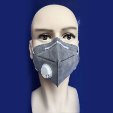 Activated Charcoal Particulate Filter Respirator Valved Work Safety Dust Mask*