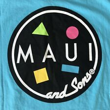 New listing NWT MAUI AND SONS Surf T Shirt Pacific Blue Size L Large Cookie Logo