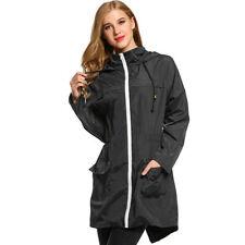 Women's Waterproof Lightweight Rain Jacket Coat Outdoor Hooded Packable Raincoat Asian S Wine Red