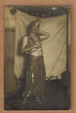 Carte Photo vintage card RPPC femme habit danseuse orientale pz0348