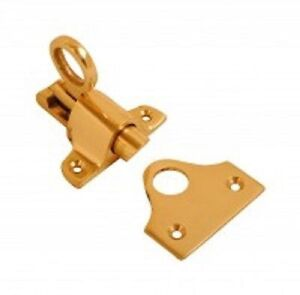 NEW FANLIGHT CATCH SOLID LOFT ATTIC LATCH BRASS WITH SCREWS ( BOX 48 )