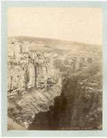 Algérie, Rhummel à Constantine  Vintage albumen print.  Tirage albuminé  20x