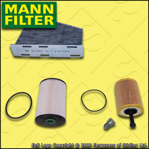 SERVICE KIT AUDI A3 (8P) 2.0 TDI MANN OIL FUEL CABIN FILTER FF=116MM (2003-2006)