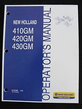 Genuine New Holland 410gm 420gm 430gm Flex Wing Finish Mower Operators Manual