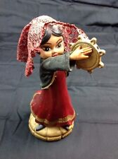 Walt Disney Productions Its A Small World ? Girl With Tambourine Figurine 1964