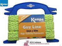 Kampa Guy Line / Guy Rope 4mm x 20m Fluorescent Yellow  Caravan, Awning, Tent