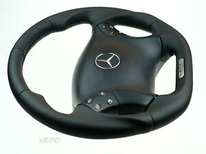00-07 C Class Mercedes Custom Steering Wheel FLAT BOTTOM THICK W203 C55AMG C32