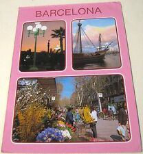 Spain Barcelona Colon Puerto Las Ramblas - posted1990