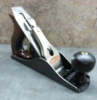 Vtg. 1950's Stanley Bailey No. 3 Smooth Bottom Bench Plane - USA carpentry tool