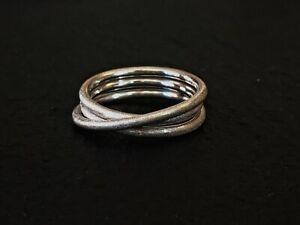 Wickelring aus Silberdraht 925/- Ring Goldschmiede satiniert