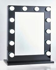 niches Vanity Makeup Mirror LED + USB + Dimmer Professional Mirror Black Gloss