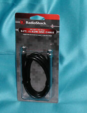 """Radio Shack 6FT BNC RG-58 Cable 50 Ohm [278964] """"Factory New – Great Find"""" SALE!"""