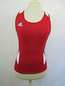 Adidas Women's Team Performance Compression Vented Racerback Tank Red/White Med