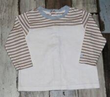 ~ Tee-shirt ML blanc rayé DISNEY garçon 9 mois ~ AUR185