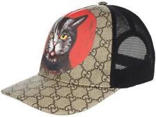 "NEW GUCCI GG SUPREME CANVAS ""CAT' HEAD PRINT BASEBALL HAT CAP UNISEX 59/L"