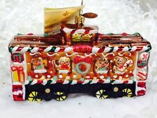 Radko Box Car Sweets 1014647 Ornament B/ORailroadCar w/Animals NWT Retired Train
