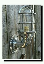NAUTICAL LIGHT MARINE LIGHT SHIP ALUMINIUM BULKHEAD PASSAGE  OUTDOOR LIGHT 1 PC.