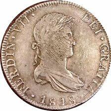 MEXICO SPANISH COLONIAL 1818 8 REALES SILVER - SHARP XF+ - LOADS OF LUSTER