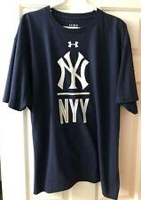 Under Armour NEW YORK YANKEES T-Shirt XXL HeatGear Loose Fit Mens MLB