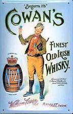 "Cowans Irish Whisky ""Begorra"" small steel sign 200mm x 150mm (og)"