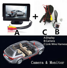 "Mini CMOS 170°Car License Screw Reverse Backup Parking Camera + 4.3"" LCD Monitor"