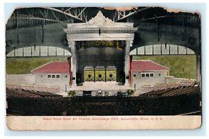1912 Great Steel Open Air Theatre Norumbega Park Auburndale MA Postcard