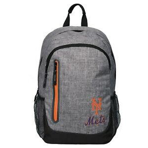 New York Mets BackPack Back Pack Book Sports Gym School Bag New Heather Grey