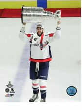 Tom Wilson Washington Capitals Hoists Stanley Cup 8x10 Photo