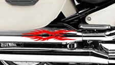 2 X Flame Fuel Tank Stickers Fire Vinyl Motorcycle Motor Decal Motorbike Bike 7
