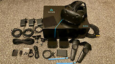 HTC VIVE VR Headset, 2 Controllers, 2 Base Stations, Earphones, Cables
