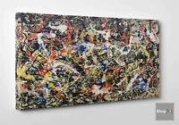🏆 Quadro Astratto Pollock Convergence Stampa su Tela Cotone Vernice Dripping 😎