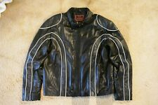 Men's Genuine Leather Motorcycle Biker Jacket Pattern Black New Casual Fashion