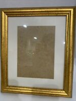 """Victorian Photo Frame Gold Gilt  Holds 8x10"""" or 5x7"""" Picture White matted"""