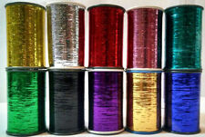 Lurex Embroidery Thread Metallic 10 x Assorted Most Demanding Colours Full Spool