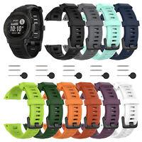 Sport Silikon Band Armband Uhrenarmband Strap 22mm Für Garmin Instinct Uhr Watch