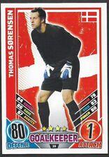 #19 TOPPS - MATCH ATTAX CARD GAME  - ENGLAND 2012 - THOMAS SORENSEN - DENMARK