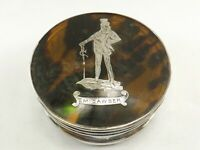 ANTIQUE SILVER MOUNTED JEWELLERY BOX HALLMARKED BIRMINGHAM 1911 REF 1158/5
