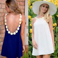 Sexy Backless Summer Sundress Women Halter Nightclub  Cocktail Mini Dresses CHF