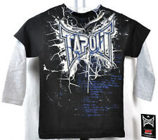 NEW TAPOUT youth casual gray/black short/long sleeve crewneck TSHIRT *4