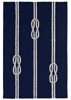 """AREA RUGS - NAUTICAL KNOTS INDOOR OUTDOOR RUG - NAVY - 5' x 7'6"""""""