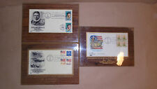 3 National postal forum first day covers on plaques john mccormack flag stamp