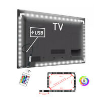 DC 5V 5050 RGB LED Strip Light Bar TV Back Lighting Kit With USB Remote Control
